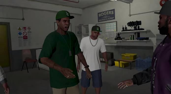 Приехав на встречу, мы узнаем парня, которого Ламар в предыдущей миссии брал в заложники