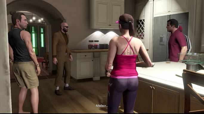 Семейная ссора Майкла прерывается внезапным появлением Тревора