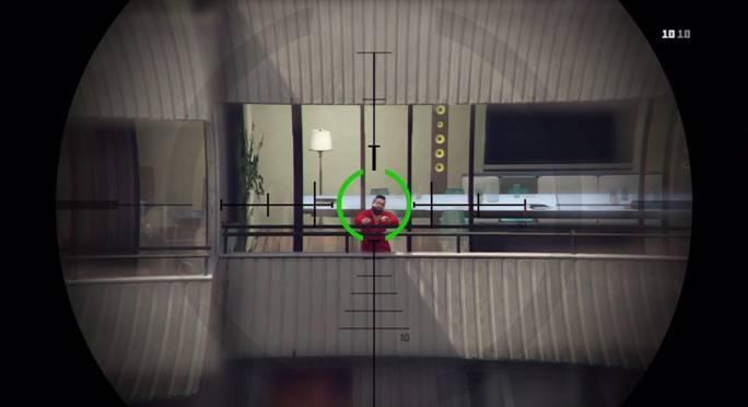 Глядя в прицел снайперской винтовки, он видит этого человека, стоящим на балконе